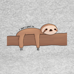 Lazy sloth laying down feeling depressed.